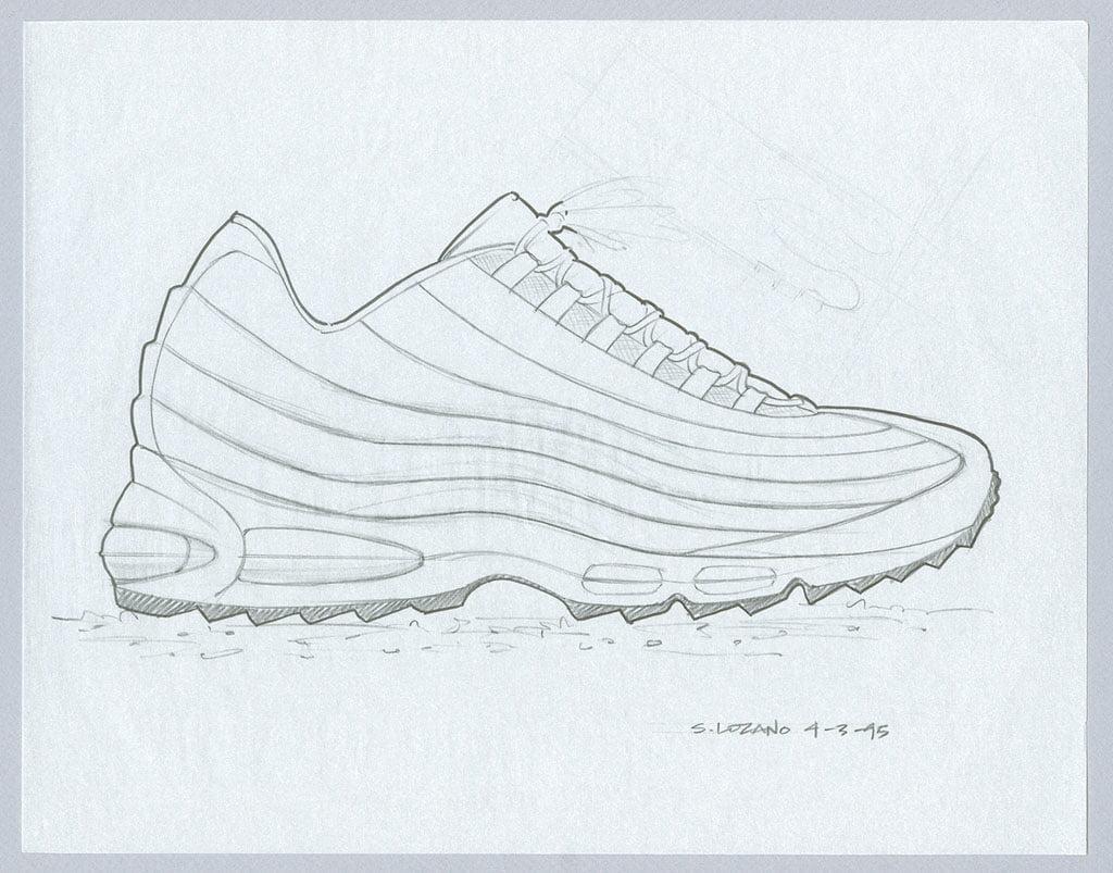 original nike air max95 sketch by sergio lozano ʽKókusztej' - az új, női Nike Air Max 95