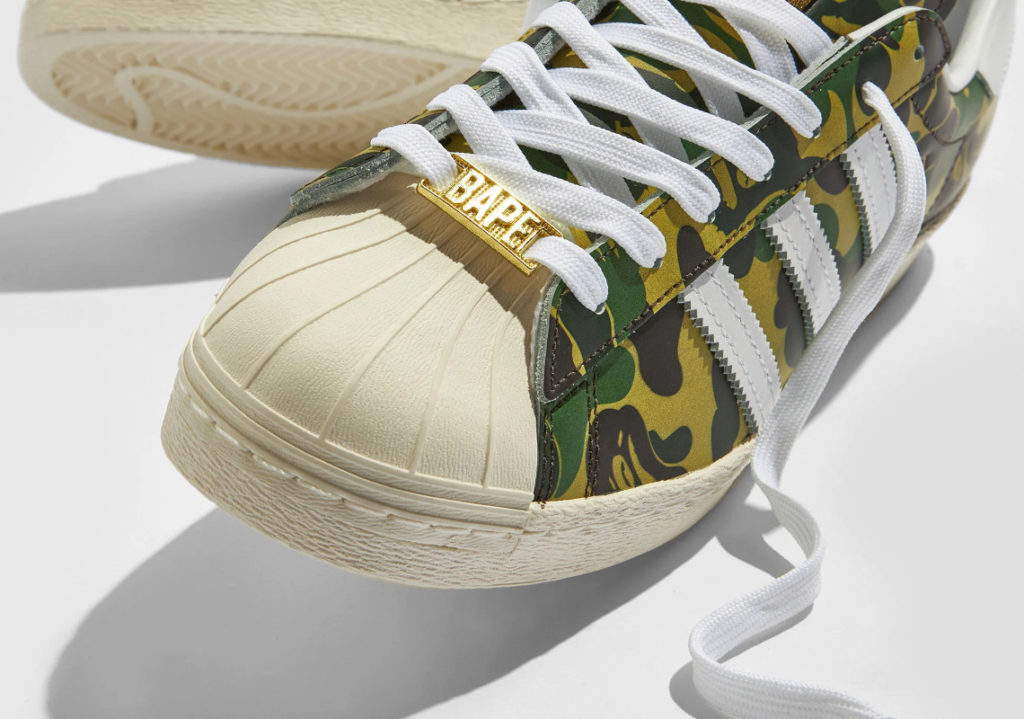 "BAPE adidas Superstar GZ8981 04 BAPE x adidas Superstar ""Green Camo"""
