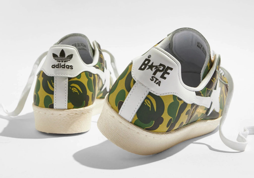 "BAPE adidas Superstar GZ8981 05 BAPE x adidas Superstar ""Green Camo"""