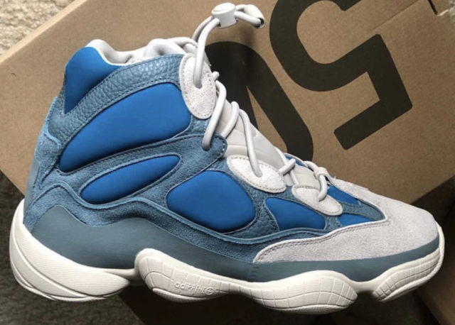 """adidas YEEZY 500 High """"Frosted Blue"""" IRL side view"""