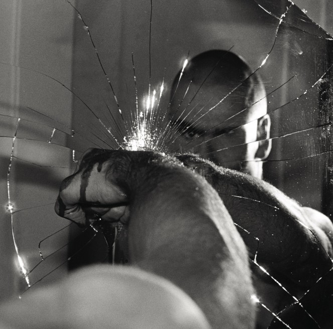 Henry Rollins black white photograph from the Black Flag Damaged cover shoot. 1981 664x655 2 Ed Colver x Babylon LA