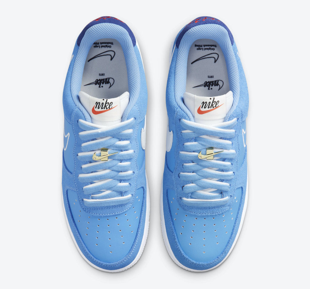 """Nike Air Force 1 Low First Use University Blue DB3597 400 Megjelenes 3 Nike Air Force 1 """"First Use"""""""