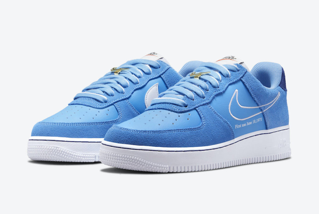 """Nike Air Force 1 Low First Use University Blue DB3597 400 Megjelenes 4 Nike Air Force 1 """"First Use"""""""