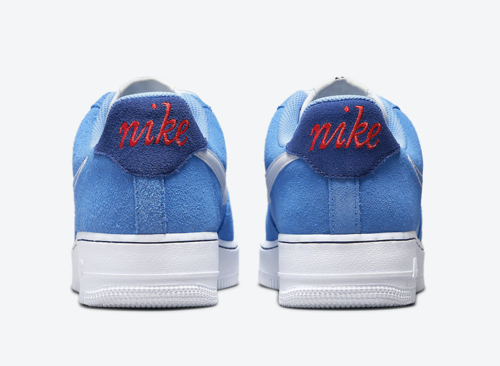 """Nike Air Force 1 Low First Use University Blue DB3597 400 Megjelenes 5 Nike Air Force 1 """"First Use"""""""