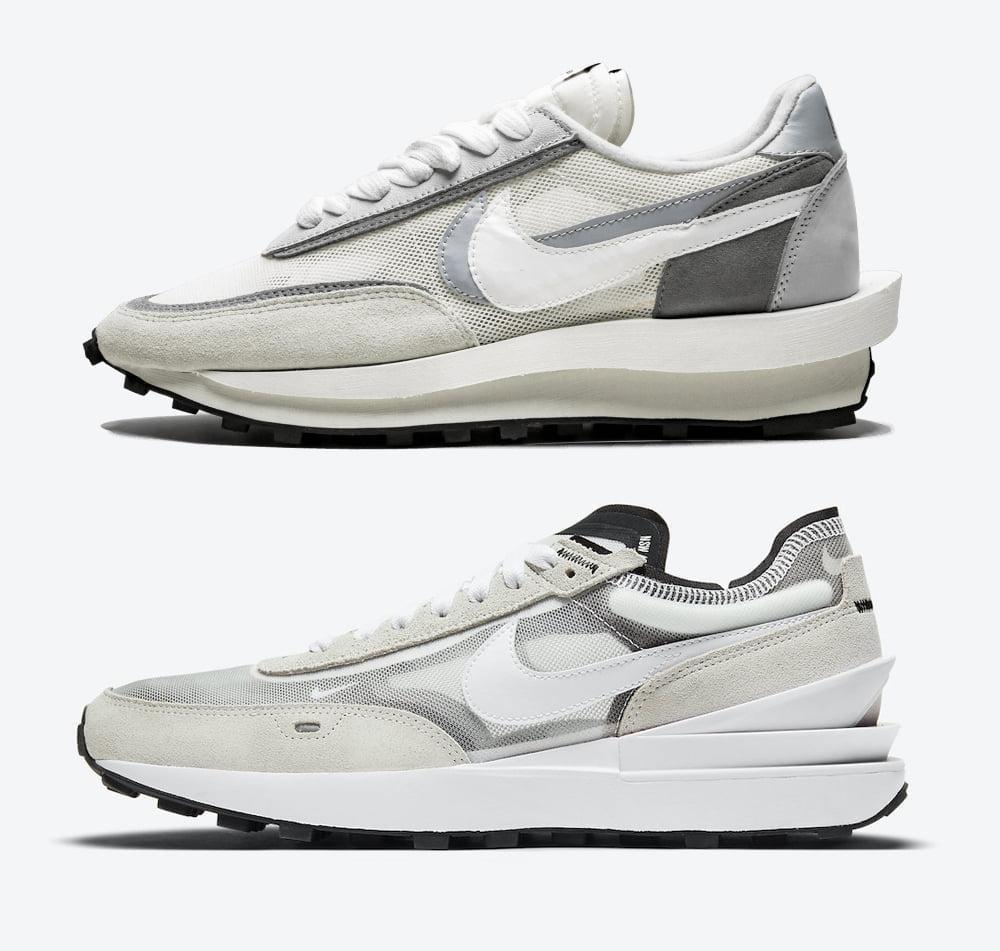 Nike Sacai LD Waffle White Grey Nike Waffle One Nike Waffle One