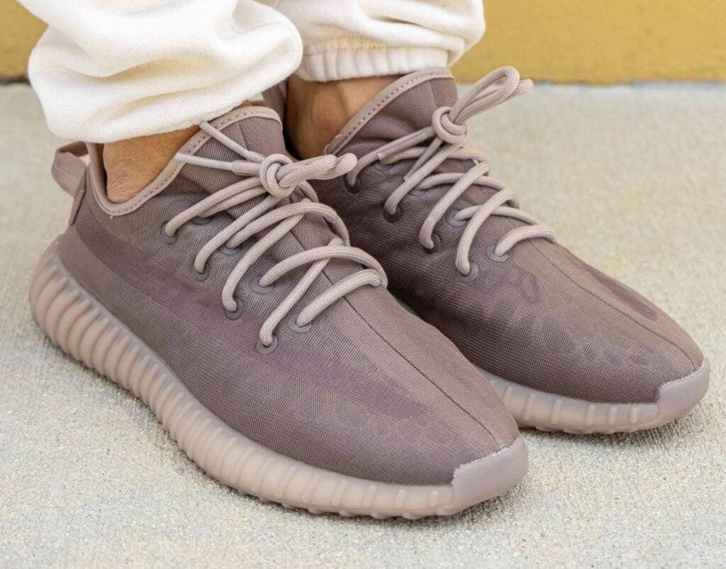 "adidas Yeezy Boost 350 V2 Mono Mist On Feet 6 adidas YEEZY 350V2 ""Mono Pack"""