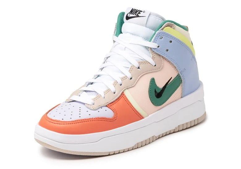 """nike dunk high rebel cashmere green noise pale coral DH3718 700 01 Itt az új, vagány, punk, és lázadó Nike Dunk: a High """"Rebel"""""""