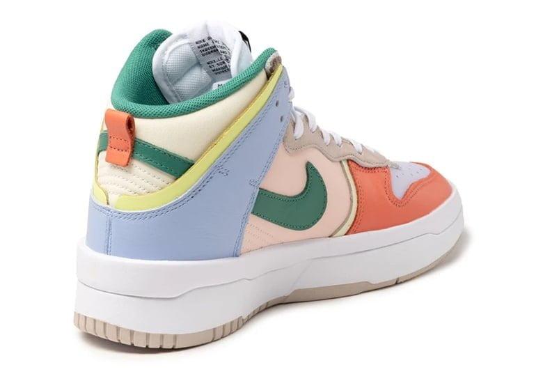 """nike dunk high rebel cashmere green noise pale coral DH3718 700 02 Itt az új, vagány, punk, és lázadó Nike Dunk: a High """"Rebel"""""""