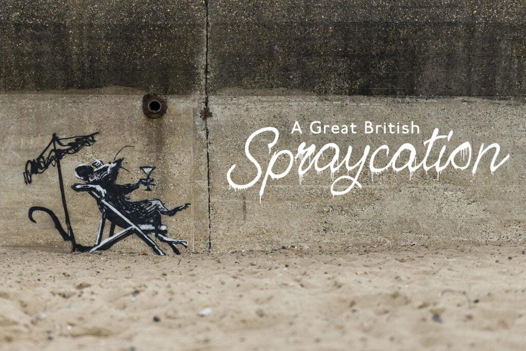01 spraycation rat title type 3 Banksy: A Great British Spraycation