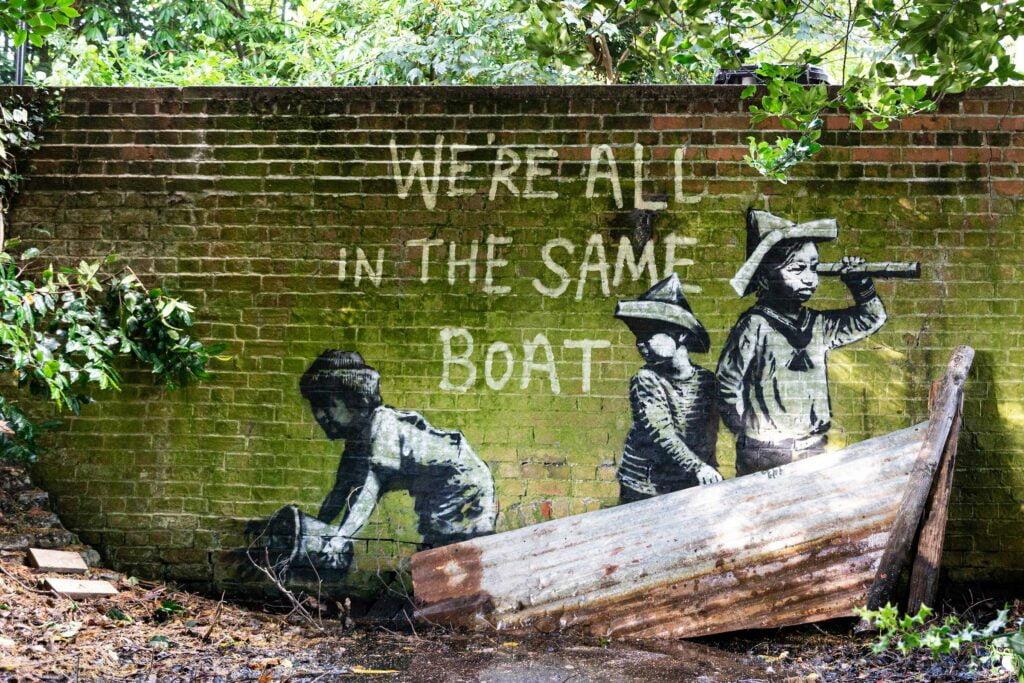 11 spraycation boat 3 Banksy: A Great British Spraycation