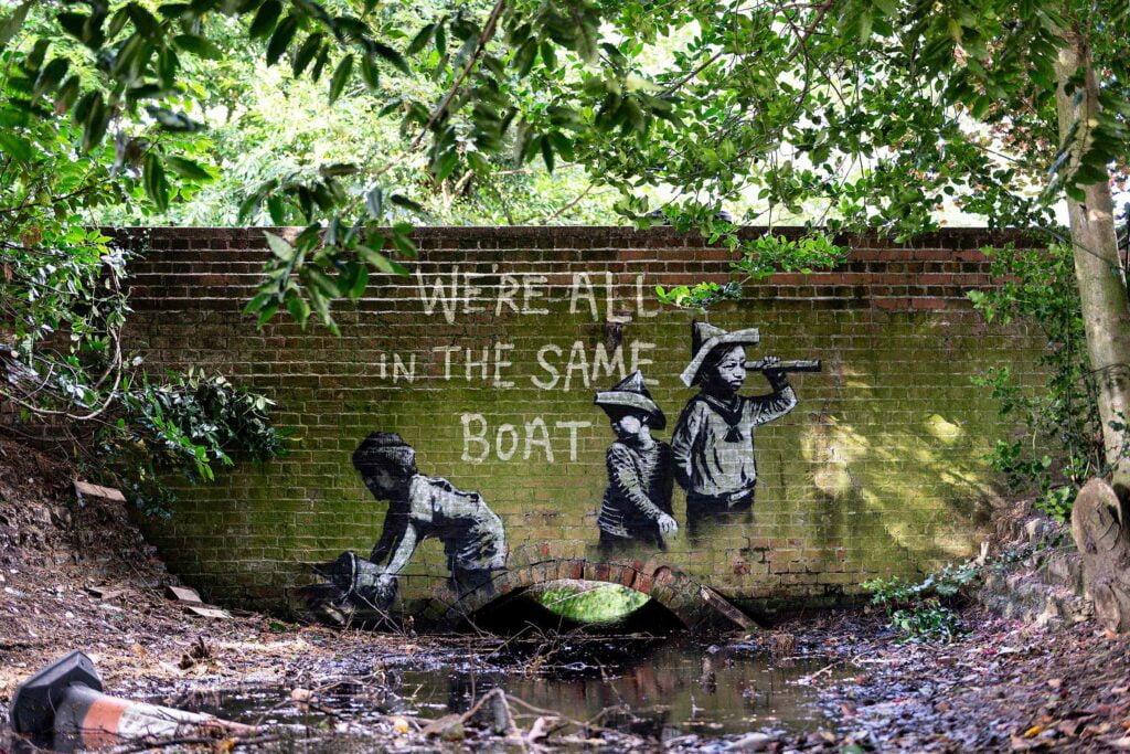 12 spraycation no boat Banksy: A Great British Spraycation