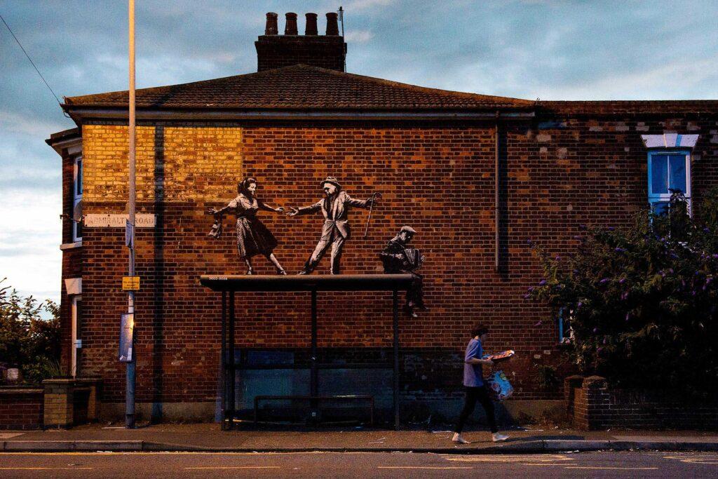 13 spraycation busstop Banksy: A Great British Spraycation